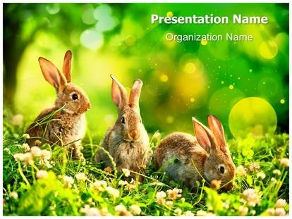 wildlife easter bunny powerpoint template background