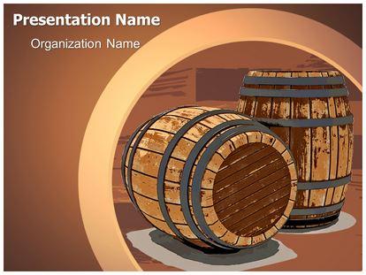 Winery wine barrel powerpoint template background 1g toneelgroepblik Gallery