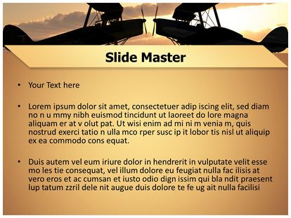world war planes powerpoint template background, Modern powerpoint
