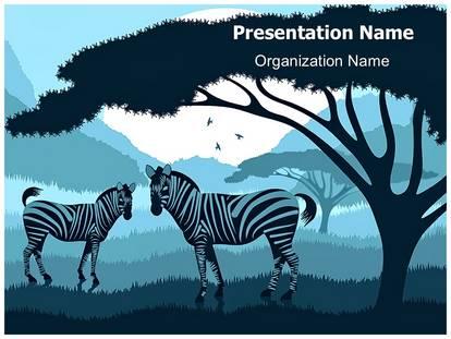 Zebra powerpoint template background subscriptiontemplates 1g toneelgroepblik Image collections